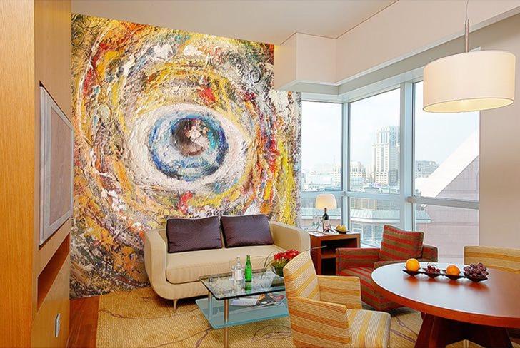 Декоративная роспись в интерьере привнесет изящество в интерьер вашей квартиры.