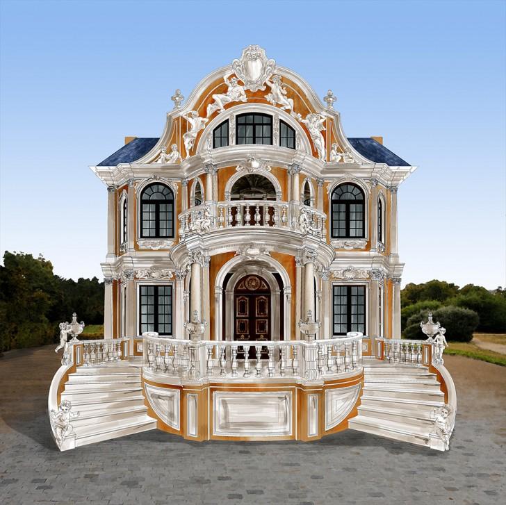 Роскошный проект дома в стиле барокко.