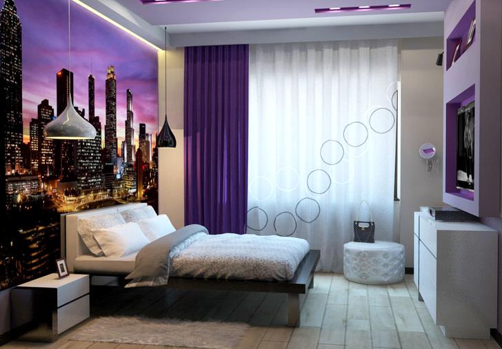 Современный интерьер спальни-комфорт, практичность и уют.