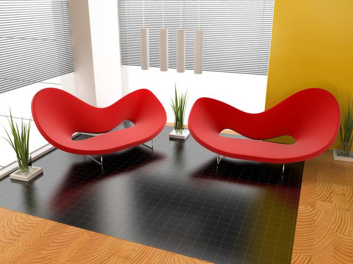 Интересные яркие кресла причудливой формы для дизайна в стиле авангард.