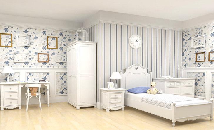Большая, удобная детская комната в стиле кантри со своим неповторимым колоритом.