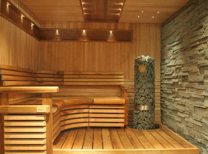 Оригинальный интерьер бани