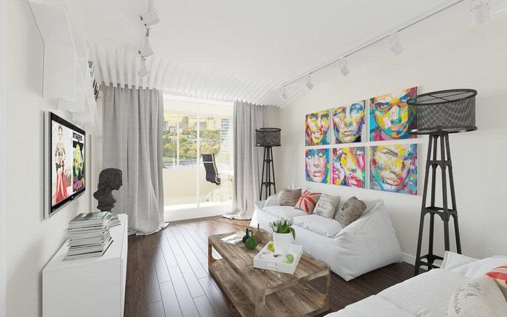 Стилю эклектика присуще сочетать не сочетаемые вещи. Так в современной стильной гостиной стоит старинная статуя и вовсе не портит общую картину декора.