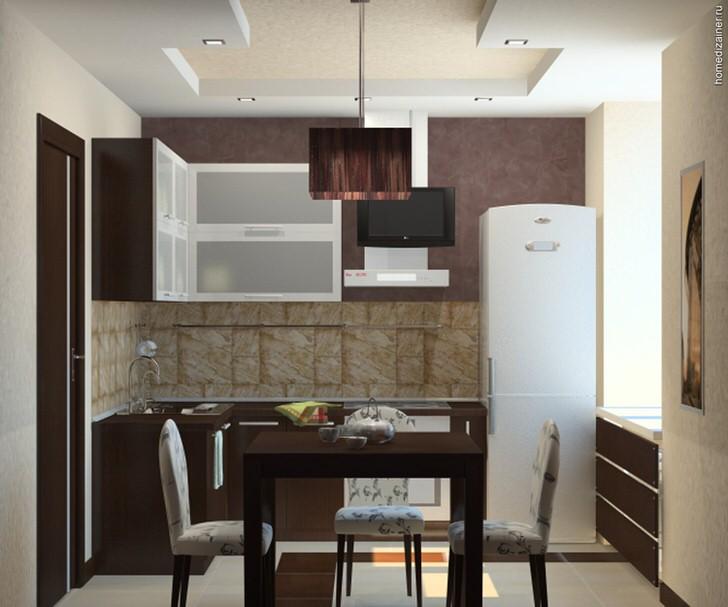 Удачное сочетание цвета в интерьере кухни.