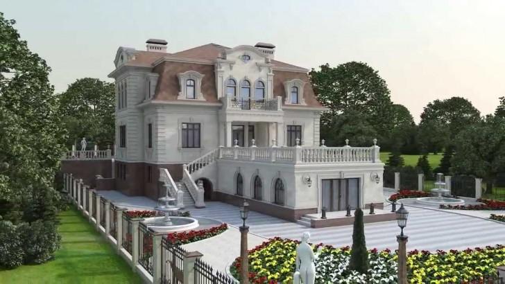 Современный загородный дом в стиле барокко где-то на юге Франции.