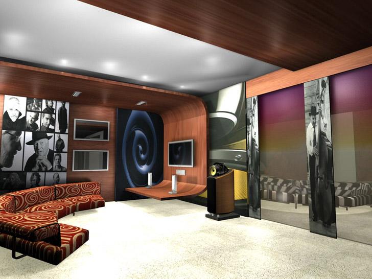 Гостевая комната в стиле авангард для стильных, свободолюбивых людей.