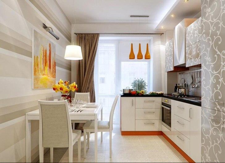 Дизайн кухни 11 кв метров фото