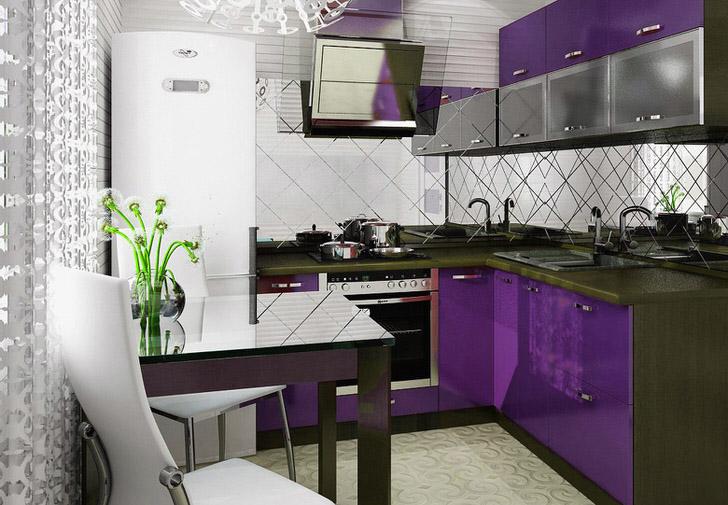 Как обустроить кухню в хрущевке 5 кв м с газовой колонкой