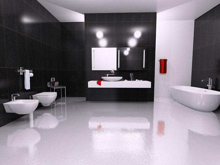 Современная ванная комната-современная сантехника.