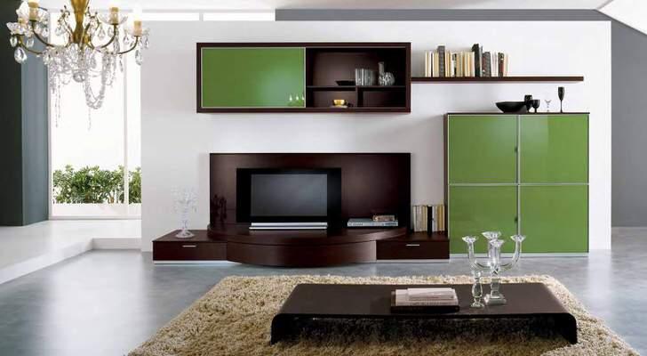 Модульная мебель для современной просторной гостиной.