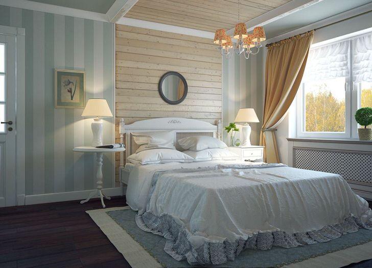 Угадывается что дом с этой чудесной спальней расположен в одной из сельских провинций Франции.