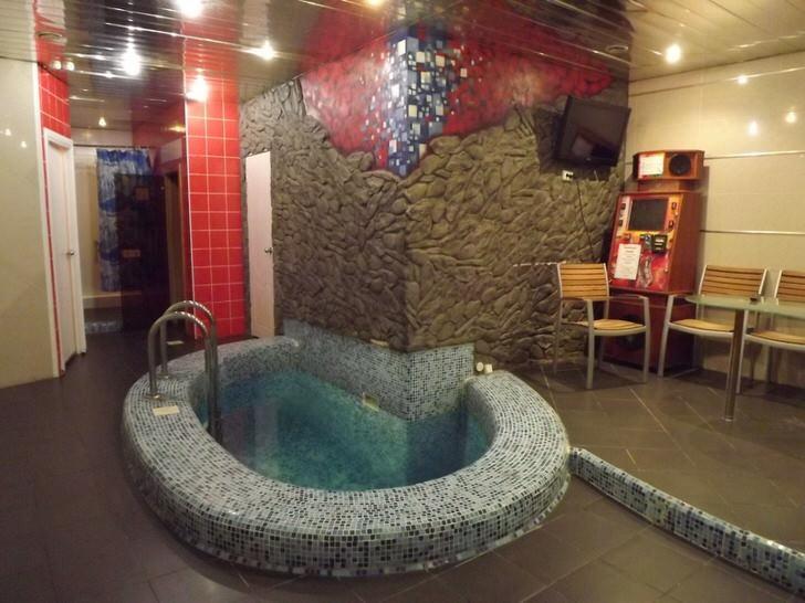 Баня в стиле хай тек