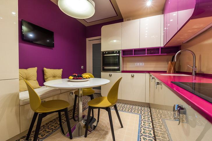Большая кухня-большие возможности в дизайне цвета.