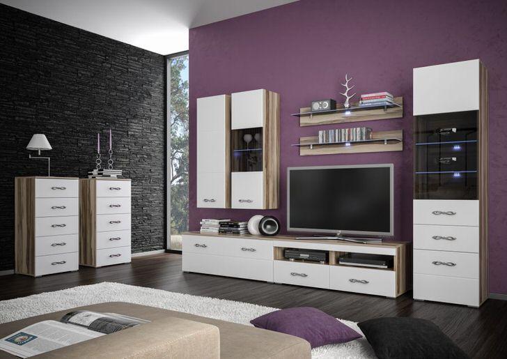 Пример многообразия возможностей размещение модульной мебели в гостиной.