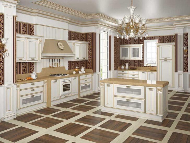 Изысканный стиль барокко на кухне.
