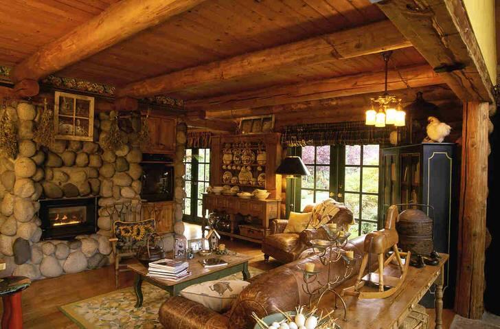 Грубый скандинавский стиль кантри. Мебель для такого интерьера-основательность и простота.