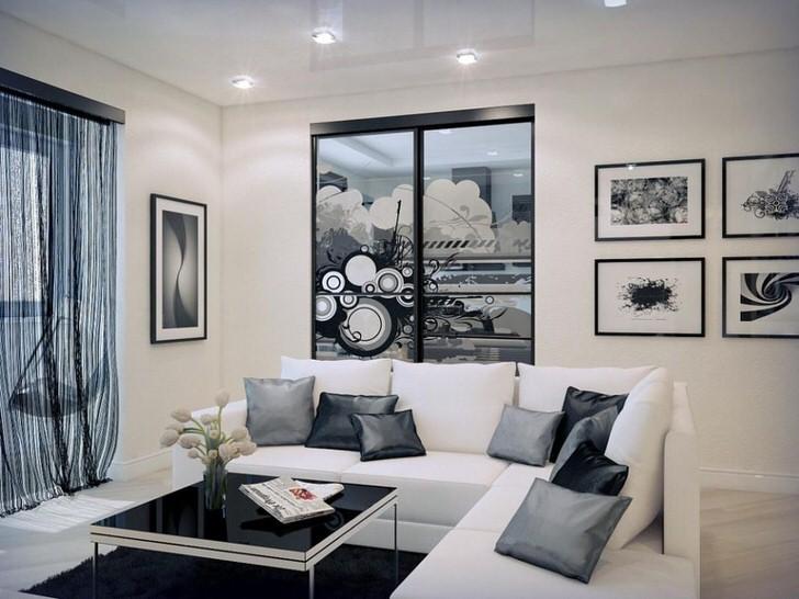 Роскошный вариант гостевой комнаты в стиле эклектика.