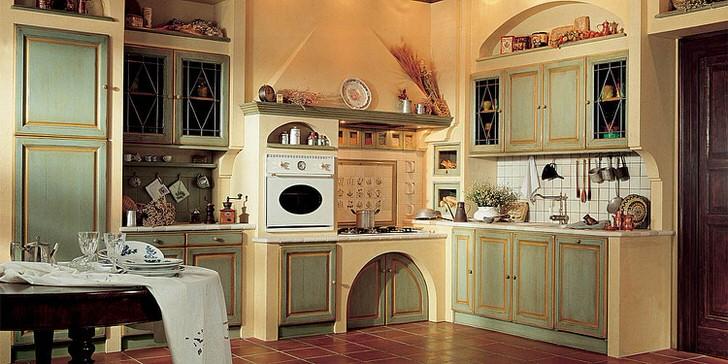 Теплая, уютная кухня в стиле кантри - настоящая радость для хозяйки.