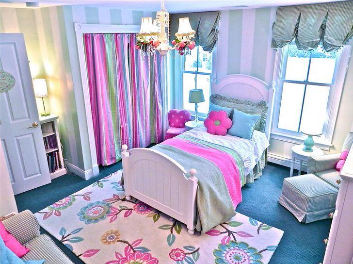 Яркий, фонтанирующий стиль кантри в детской комнате.