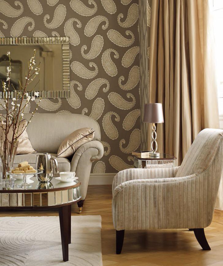Текстиль в интерьере гостиной дань прошлым традициям.