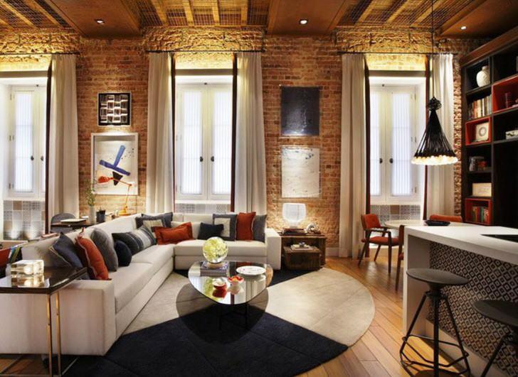 Интерьер и мебель в стиле-лофт