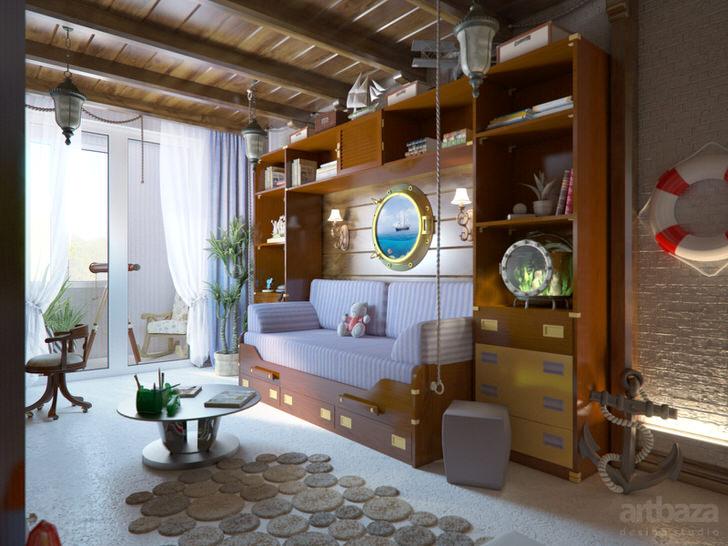 Детская комната от папы моряка из деревни.