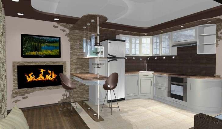 Девиз кухни-студии - максимум функциональности, уюта, возможности общения