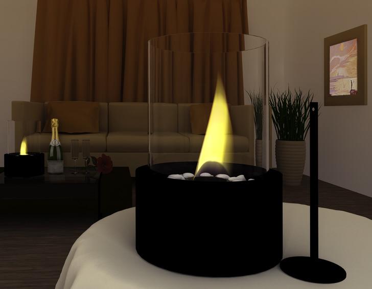 Биокамин-свеча. Включаем на романтическом свидании.