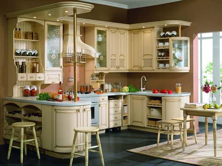 Красивая, удобная, обжитая кухня в стиле прованс.