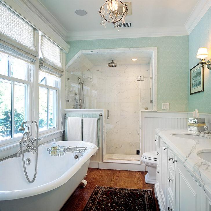 Ванная комната в сельской местности провинции Прованс Франция.