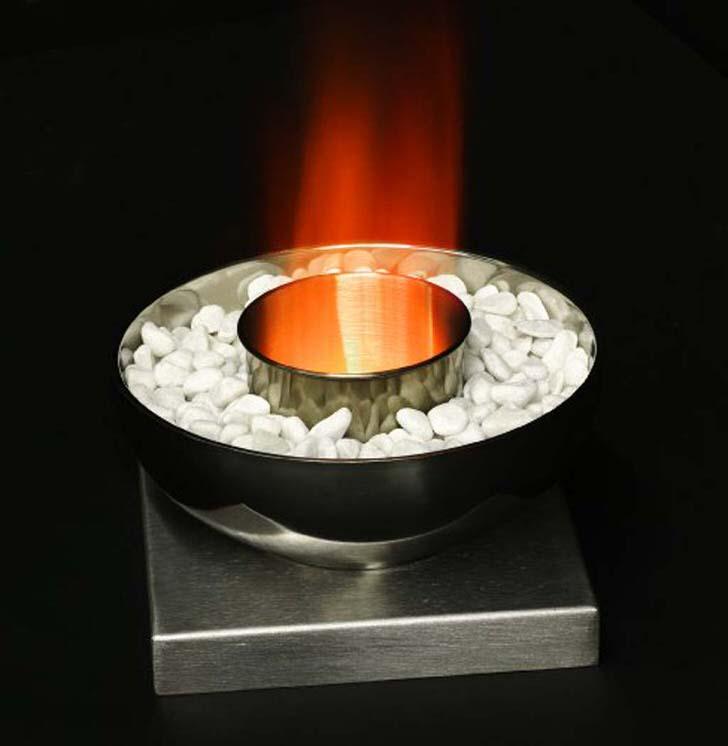 Настольный камин-олимпийская чаша, для гостиной в стиле хай тек.