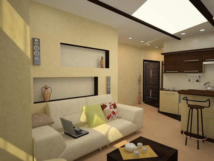 Уютная, приспособленная для жизни квартира-студия.
