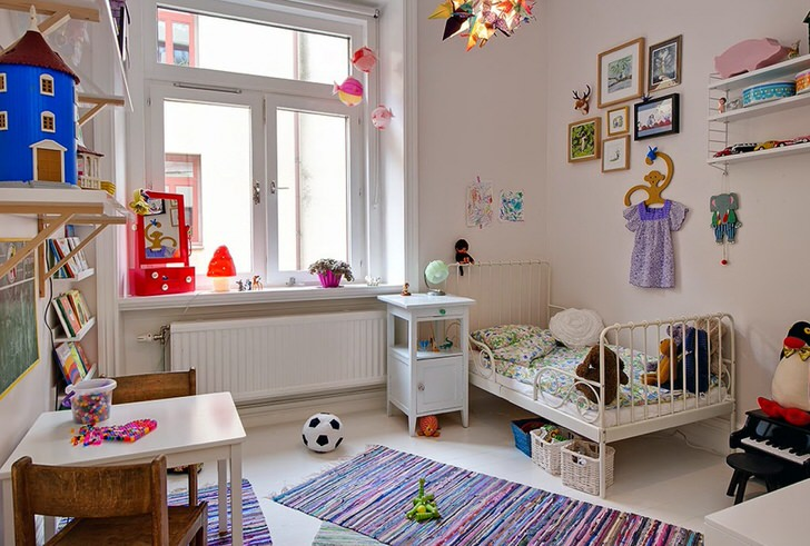 скандинавский стиль детской комнаты