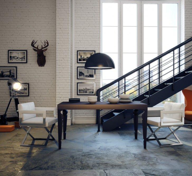 Стиль лофт может быть лёгким и элегантный. Покрасьте стены, поставьте современную мебель лаконичных форм, фото в рамках.