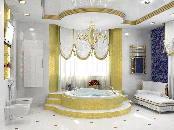 Белое и золотое: гармония стиля барокко в современном исполнении.