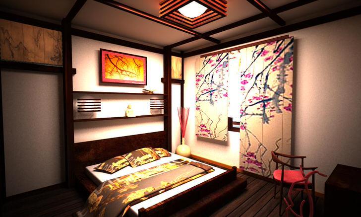 Неповторимый японский стиль-простота и лаконичность, ненавязчивые нотки декора.