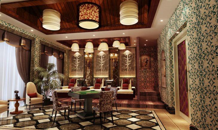 Гостиничный номер в современном Шанхае.