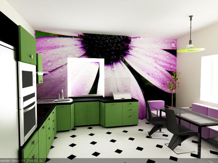 Кухня в стиле хай тек.