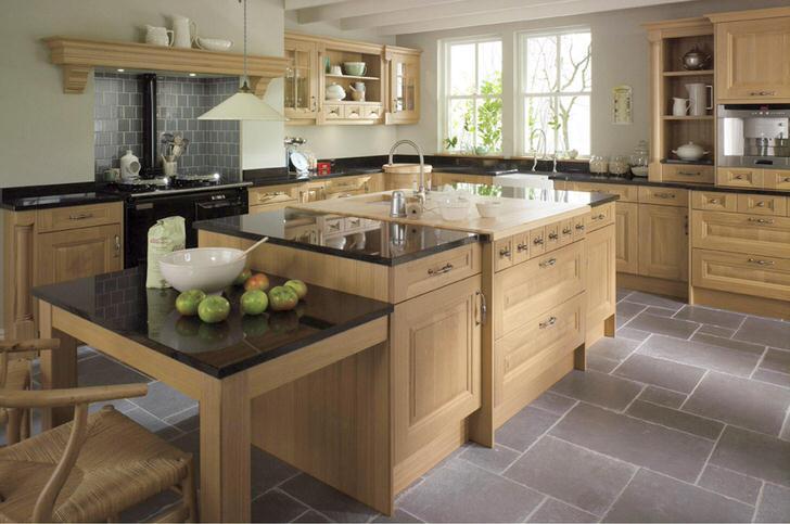 Стильная кухня в стиле кантри. Современный кантри - это уютные, функциональные кухни с вместительной мебелью из дерева.