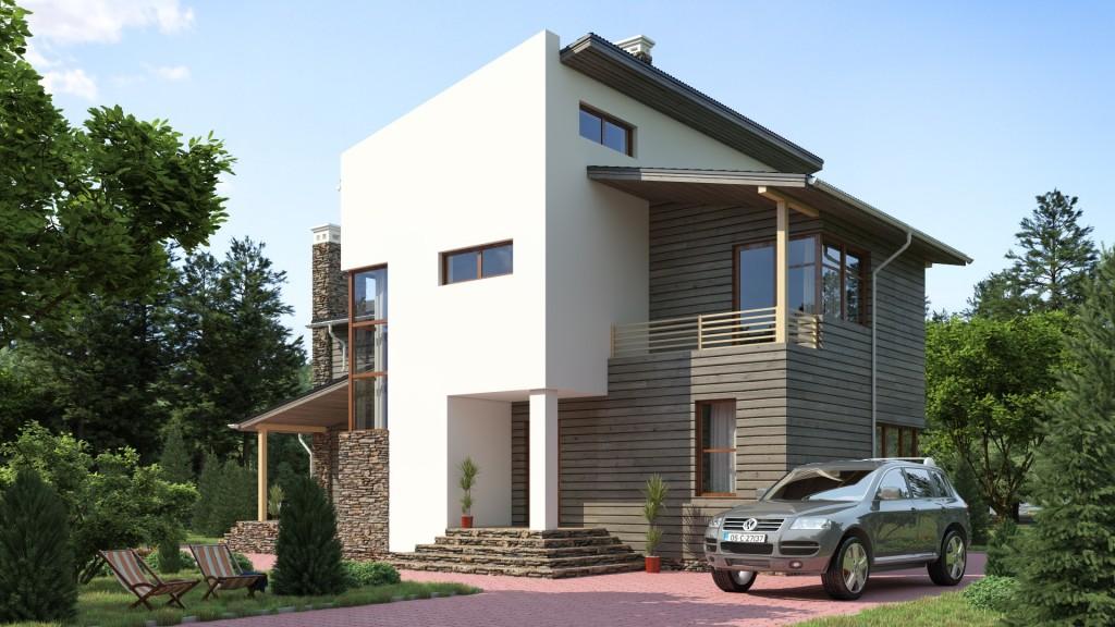 Загородные дома хай тек фото дизайн