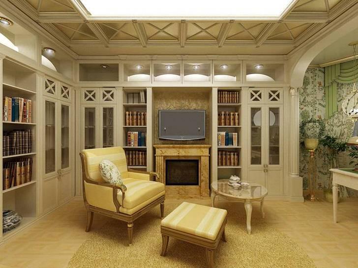Светлая гостевая комната в стиле кантри с правильно подобранным освещением. В интерьере в лучших традициях кантри используются элементы декора из дерева.