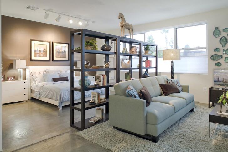 Немного фантазии и комната-студия приобретает черты стиля лофт.