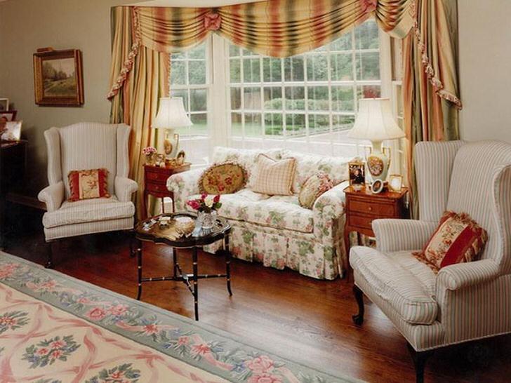 Комната молодой леди в загородном доме в стиле кантри.