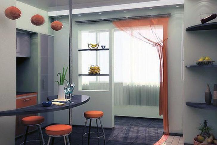 Приглушенный оранжевый гармонирует с серым, от чего комната визуально кажется более просторной.