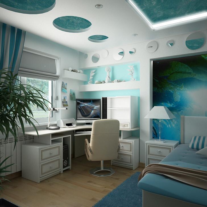 Обитаемый, манящий, космический, мягкий... стиль хай-тек. Приятно быть и работать в такой комнате. Дизайнеру отлично.