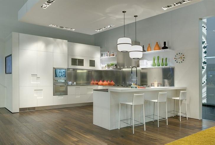 Яркий пример кухни в авангард стиле.