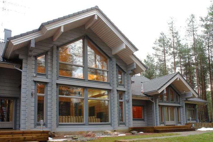 Сильный загородный дом в стиле хай-тек.