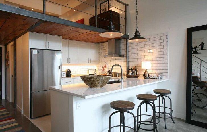 Мебель для кухни лофт.