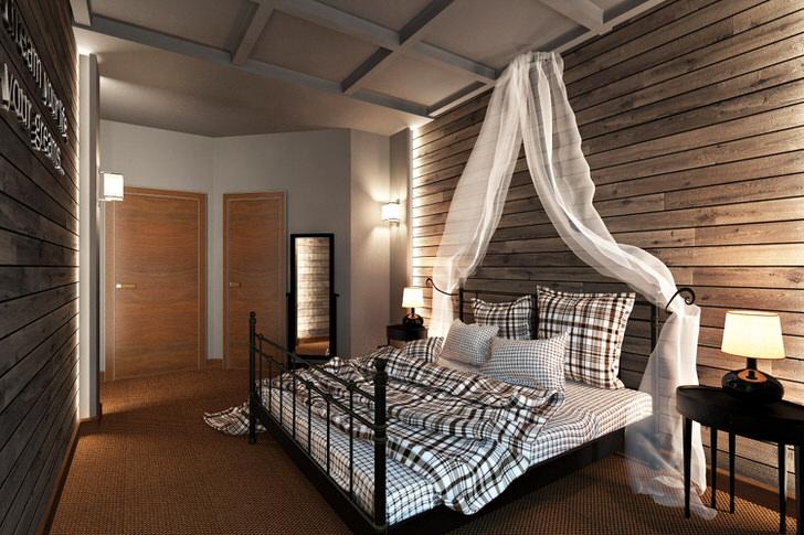 Интерьер комнаты в стиле лофт, или моя спальня в багажном вагоне.