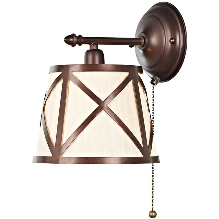 Прикроватный светильник для спальной комнаты в кантри стиле. Отличное решение для любителей почитать перед сном.